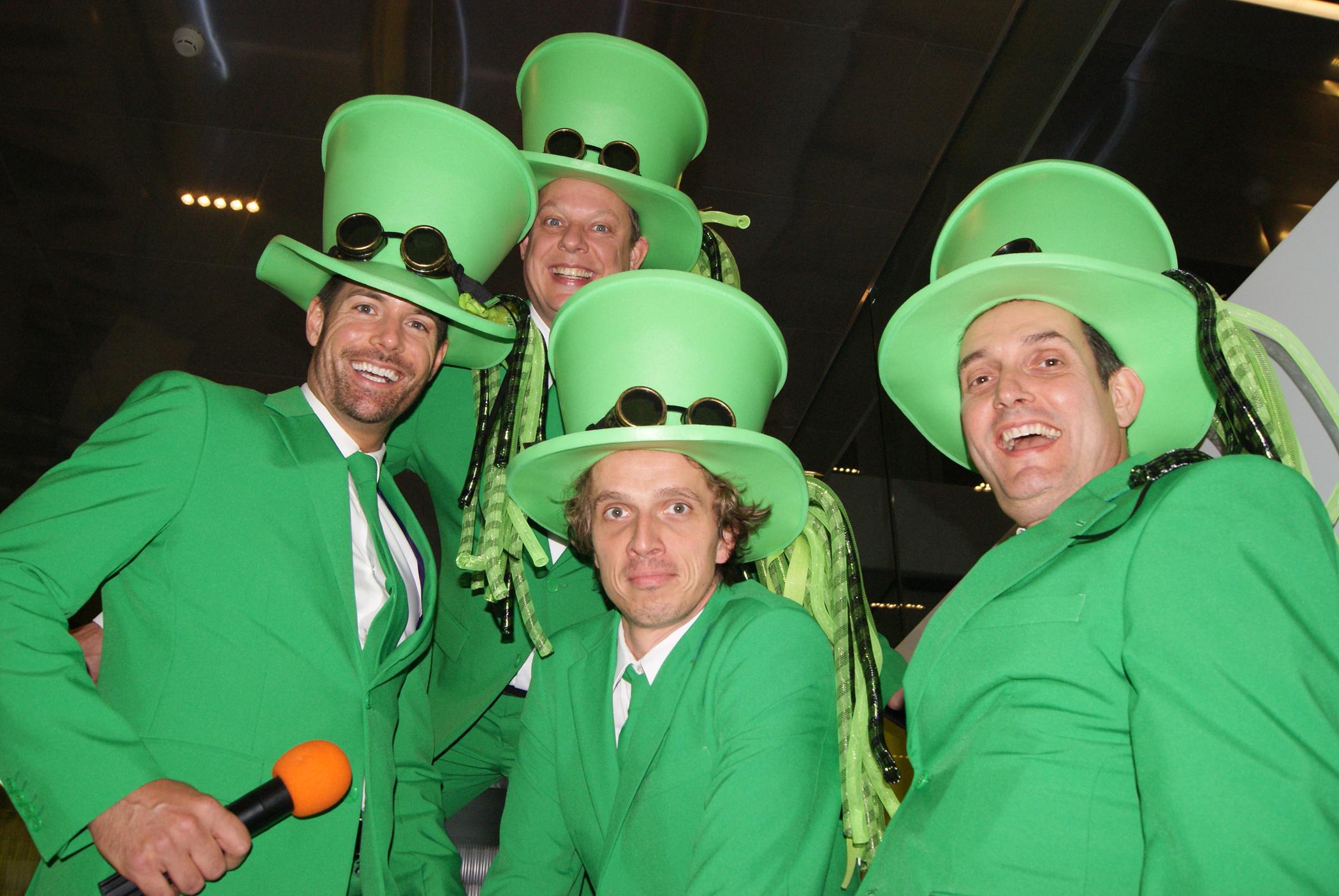 Duurzame groene mannen bij het Ministerie
