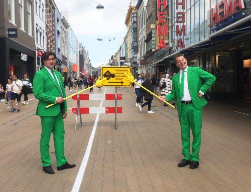 Bewustwordingscampagne met acteurs in de binnenstad Groningen